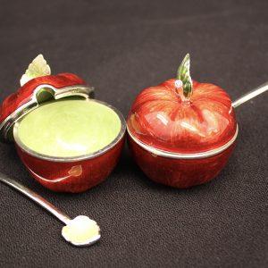 Apple Shaped Honey Bowl