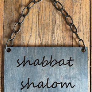 Shabbat Shalom Sign