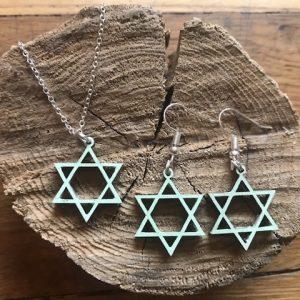 Star of David Jewelry Set